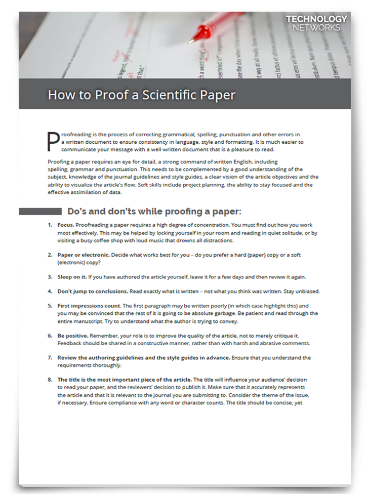 How to Proof a Scientific Paper [How to Guide]